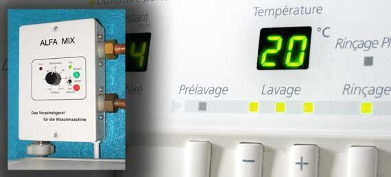 Alfa-mix appareils pour alimenter les machines a laver avec de l'eau chaude