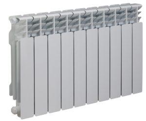 Radiateur aluminium posé