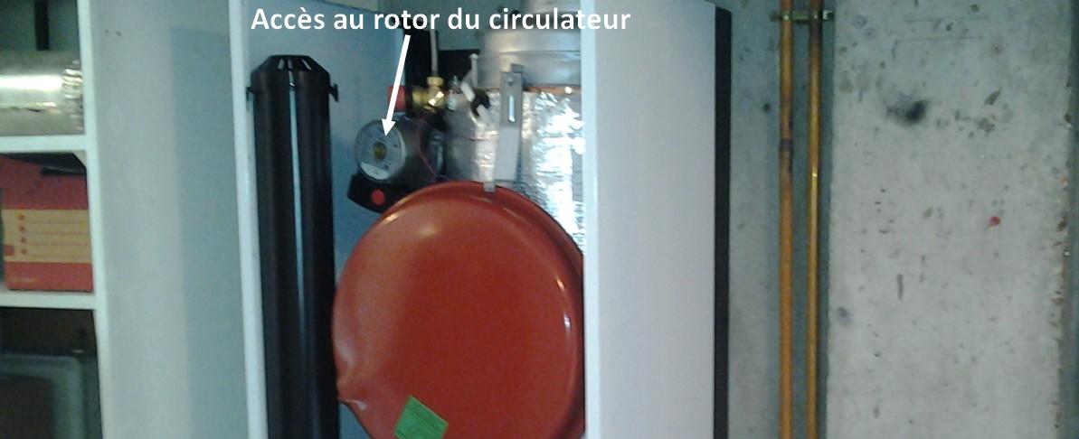 Accès au rotor