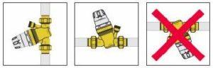 Position d'installation de réducteur de pression