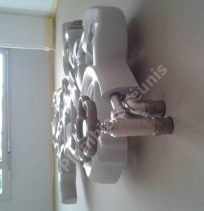 Detail raccordement radiateur
