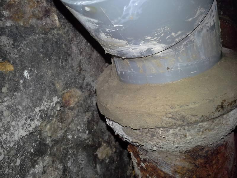 Raccordement PVC avec fonte