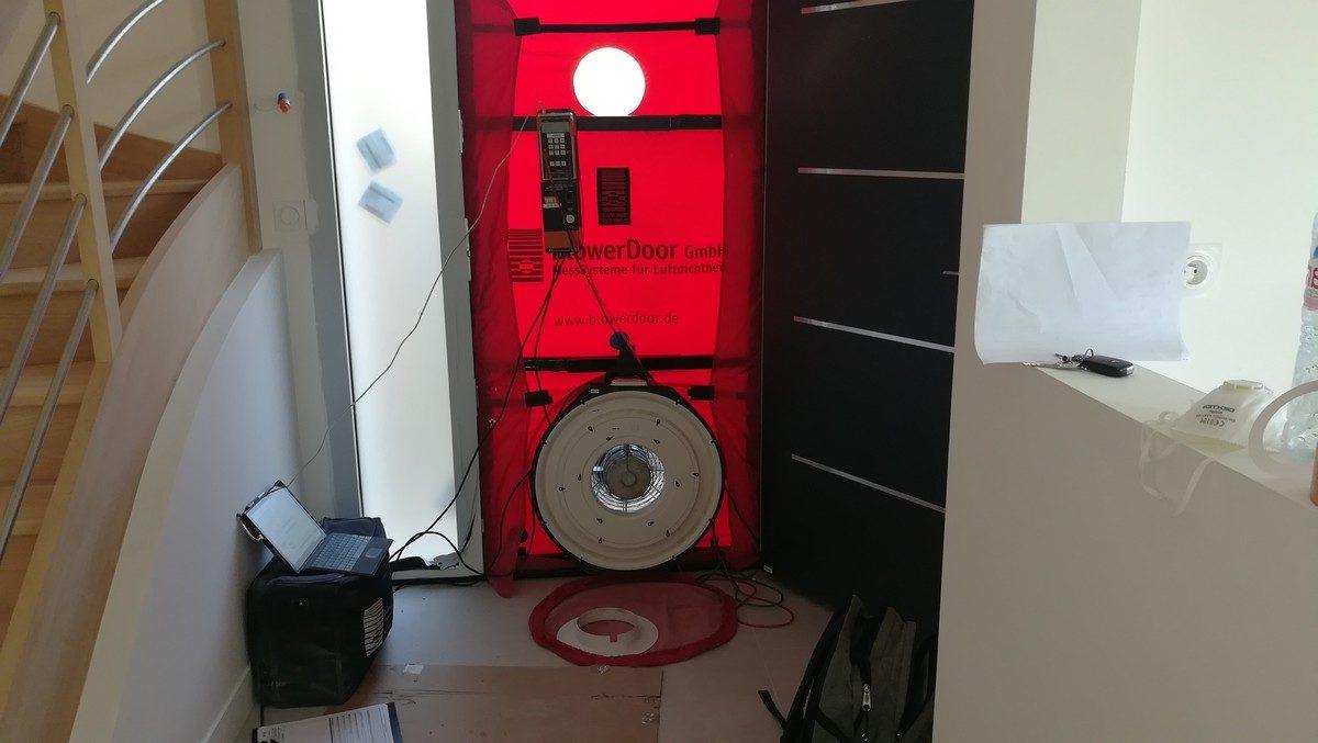 Image de: super ventilateur pour test de perméabilité