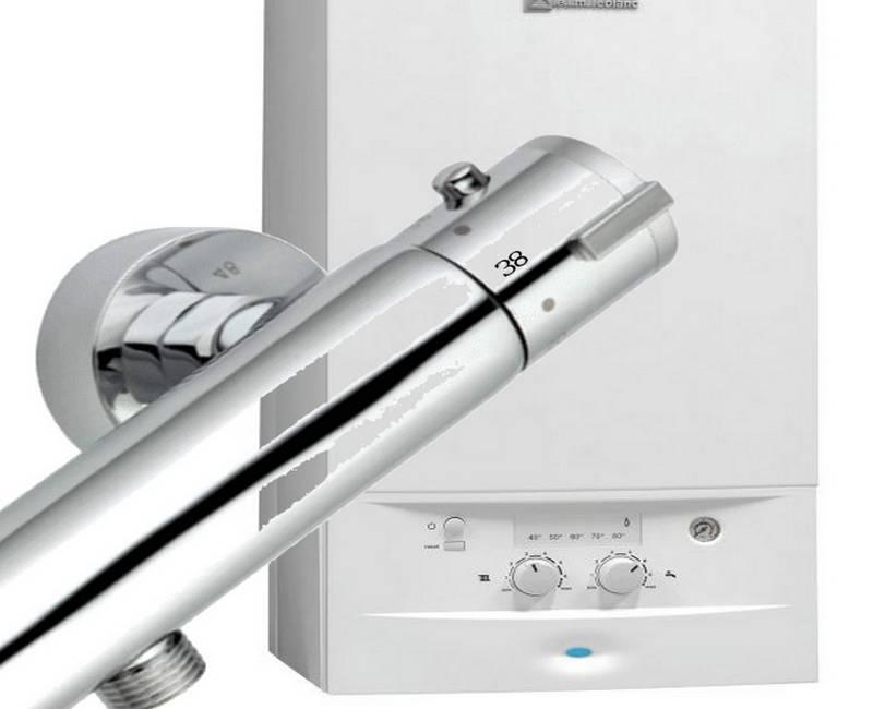 mitigeur thermostatique avec chaudière instantané