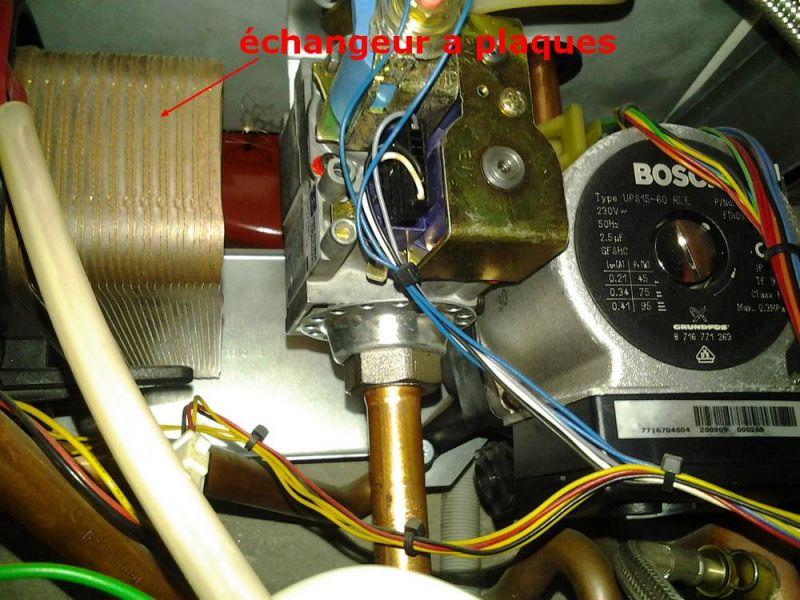 échangeur a plaques sur chaudière basse température