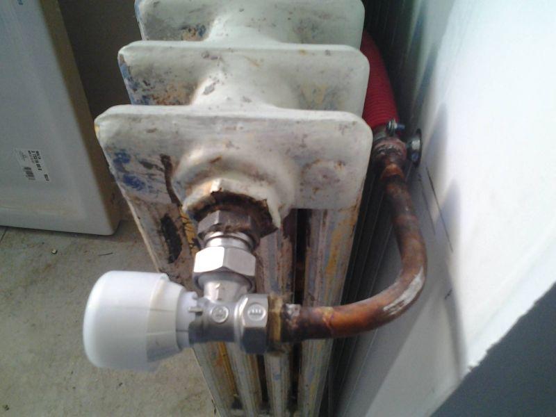Raccordement de PER sur radiateur