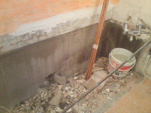 Démolition de salle de bains