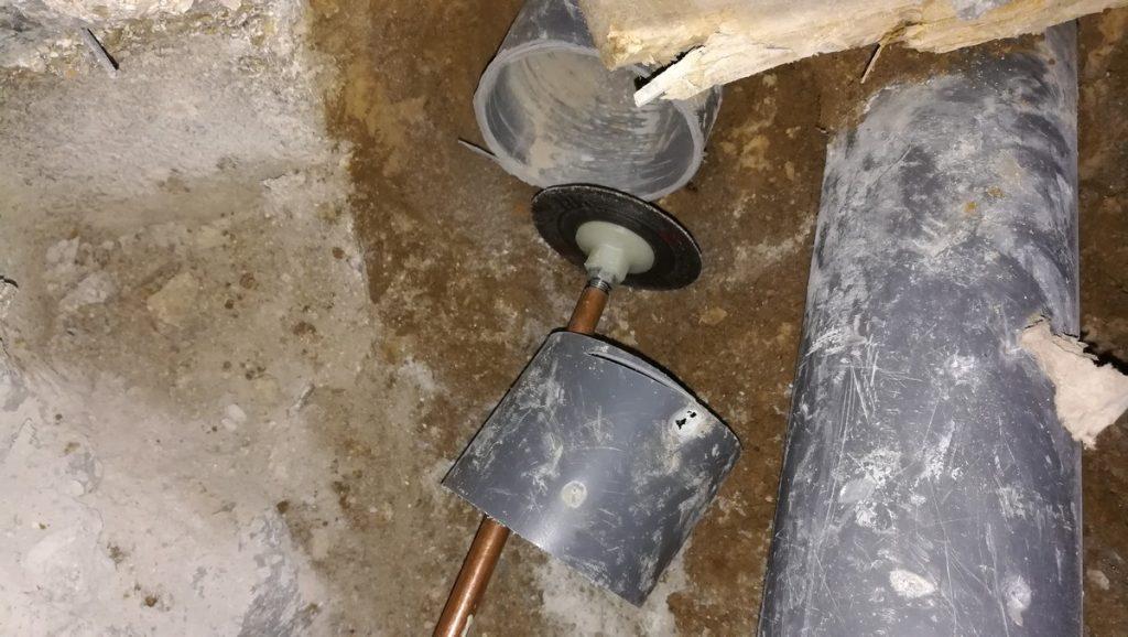 reprise de PVC sous dalle